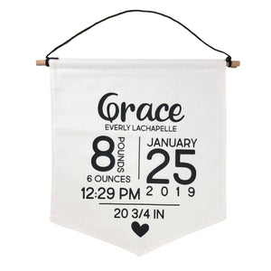 BABY BANNER -- BIRTH ANNOUNCEMENT