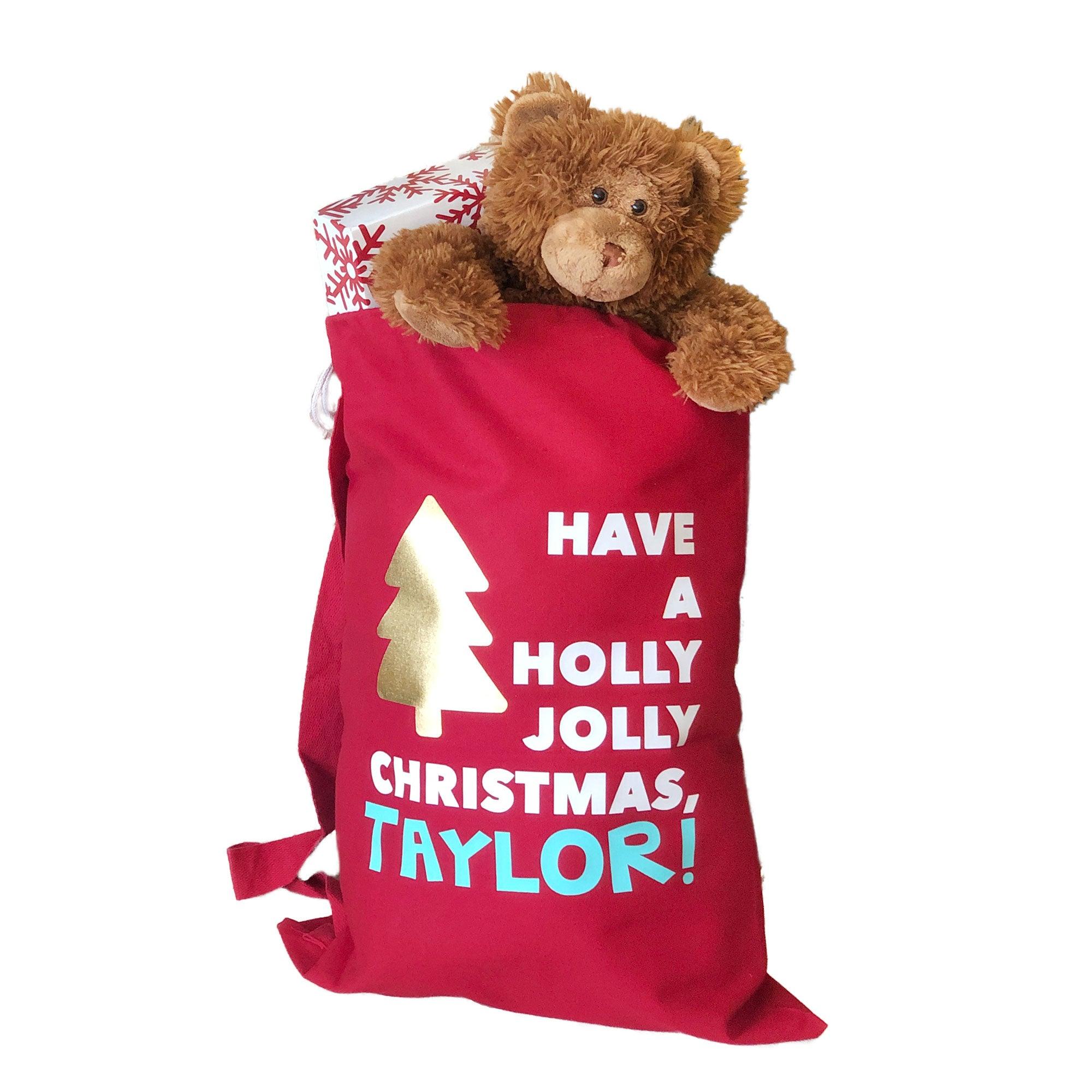 PERSONALIZED SANTA SACK WITH STRAP
