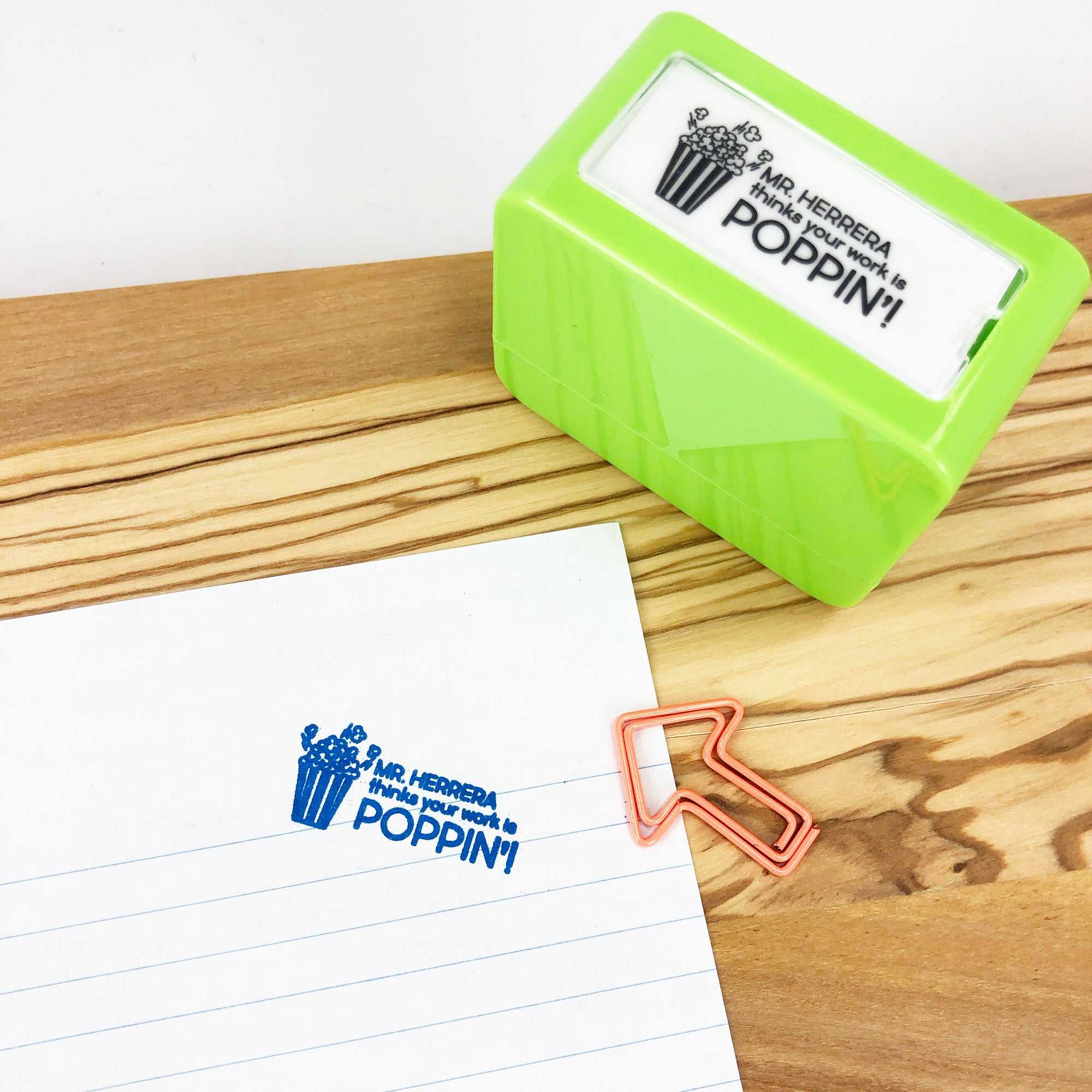 TEACHER STAMP -- YOUR WORK IS POPPIN'!
