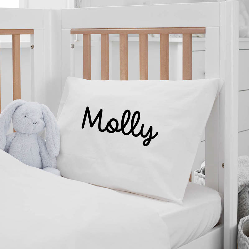 PERSONALIZED STANDARD PILLOWCASE -- SLEEPY SCRIPT