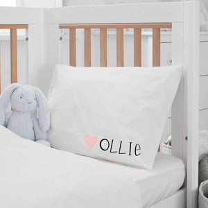 PERSONALIZED STANDARD PILLOWCASE -- SWEETHEART