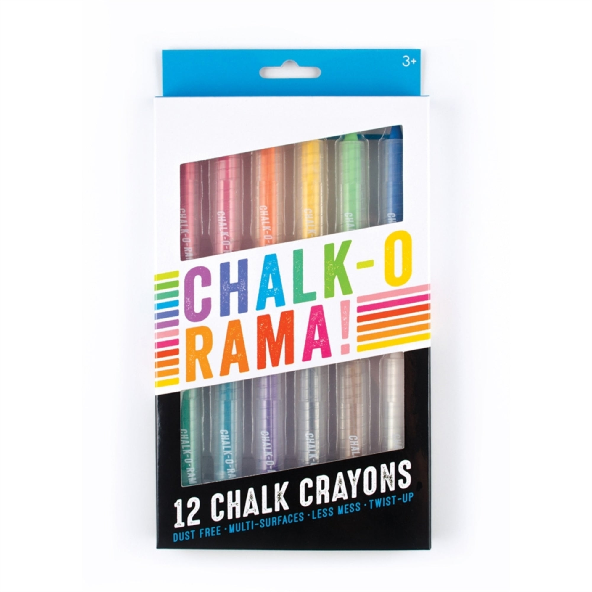 CHALK-O-RAMA CHALK CRAYONS - SET OF 12