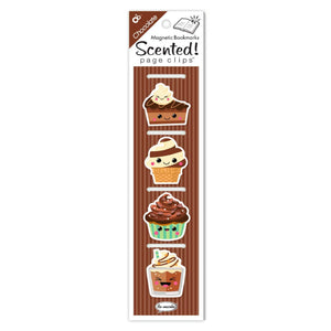 MAGNETIC BOOKMARK 4 PACK -- CHOCOLATE