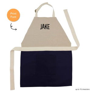 PERSONALIZED CHILD'S APRON (NAVY)