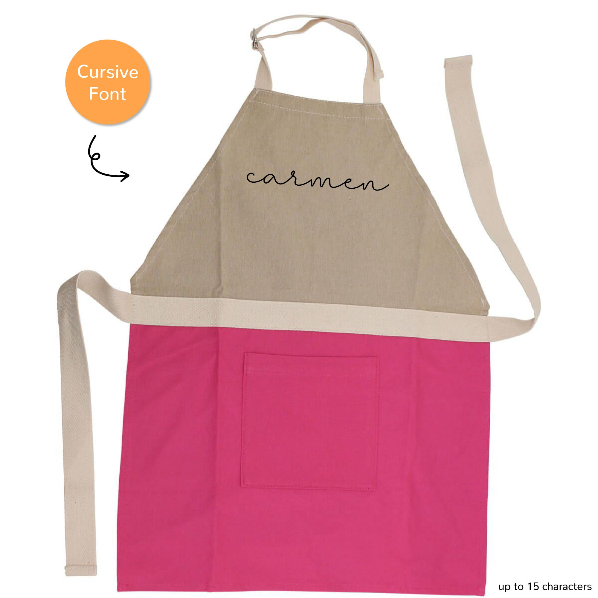 PERSONALIZED CHILD'S APRON (PINK)