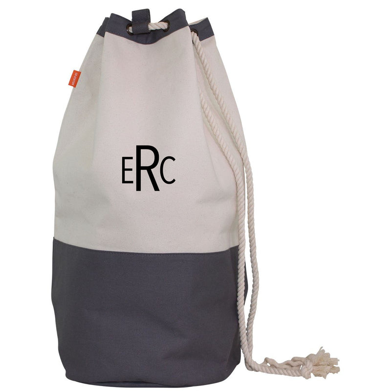 PERSONALIZED LAUNDRY DUFFEL (GRAY)