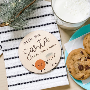 SANTA COASTER -- MILK + COOKIES