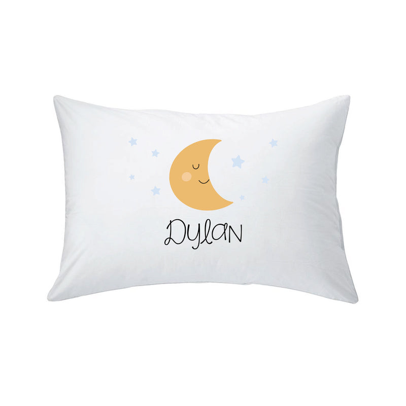 PERSONALIZED TODDLER PILLOW & PILLOWCASE -- MOON