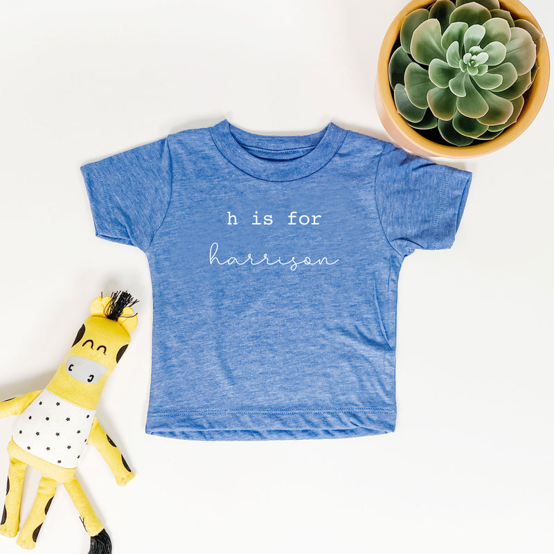PERSONALIZED N is for Name TODDLER TEE (SIZE 3MO-5T) -- TRUE BLUE