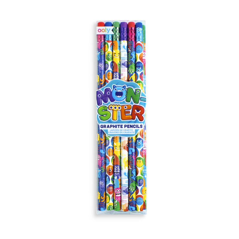 PATTERN PENCILS (SET OF 12) -- MONSTER PALS