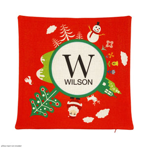 MONOGRAM HOLIDAY PILLOWCASE -- SINGLE INITIAL