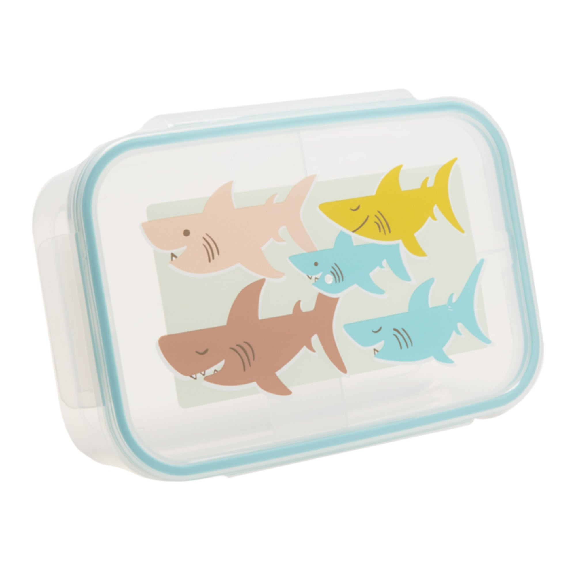 CLIP-TOP LUNCH BOX -- SMILEY SHARK
