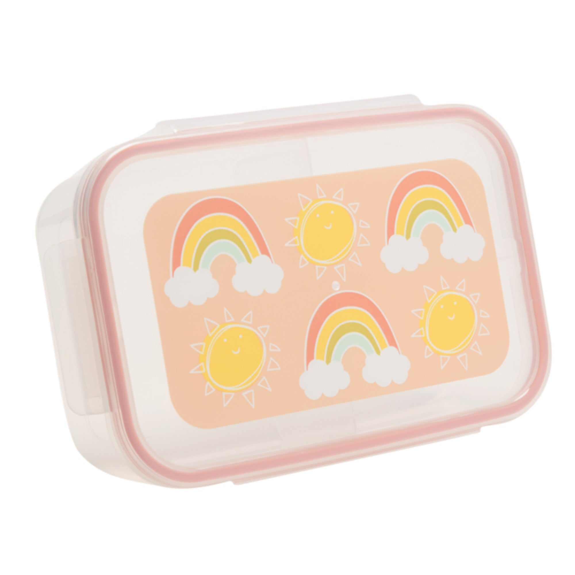 CLIP-TOP LUNCH BOX -- SUNSHINE & RAINBOWS