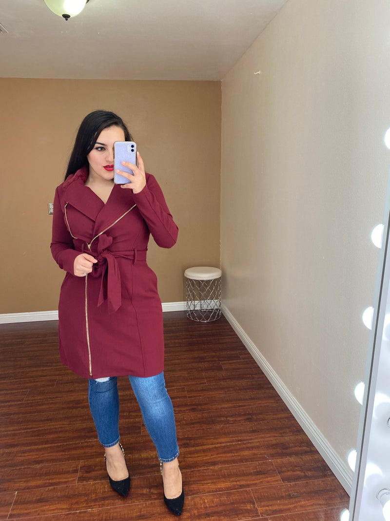 Townsend Coat (Burgundy)