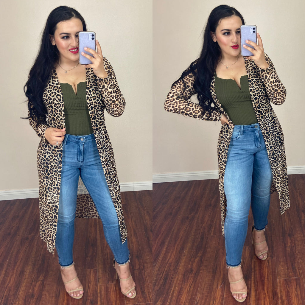 PRE-ORDER Leopard Duster SHIPS FRIDAY 8-5-20