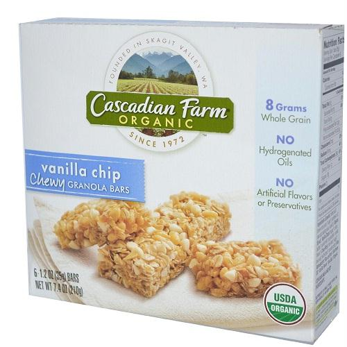 Cascadian Farms Vanilla Chip Granola Bar (12x7.4 Oz)