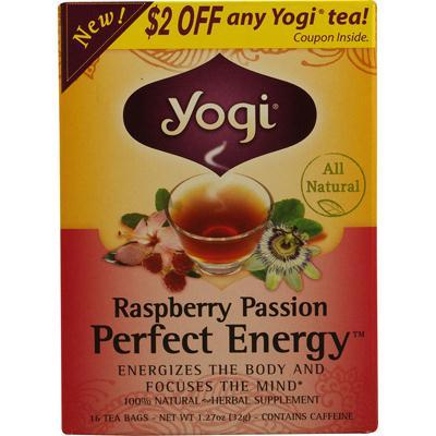Yogi Raspberry Passion Perfect Energy Tea (6x16 Bag)