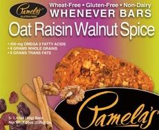 Pamela's Oat Raisin Walnut Spice Bars (6x5 Ct)