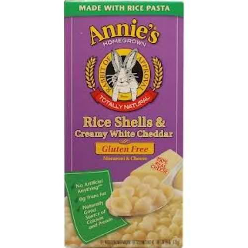 Annie's Rice Shells And Creamy White Cheddar Gluten Free (12x6oz)