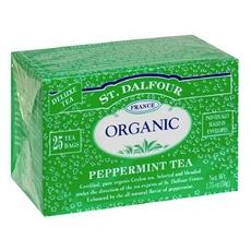 St. Dalfour Organic Tea, Tea Bags, Peppermint (6x25 Bag )