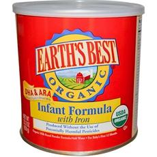 Earth's Best Organic Infant Formula With Iron, Dha & Ara (4x23.2oz)