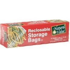 Natural Value Reclosable Storage Bags (12x25cnt )