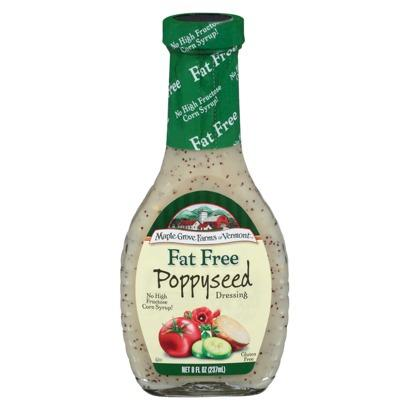 Maple Grove Fat Free Poppyseed Salad Dressing (12x8 Oz)