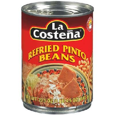 La Costena Bean Refried Pinto Beans (12x20.5 Oz)