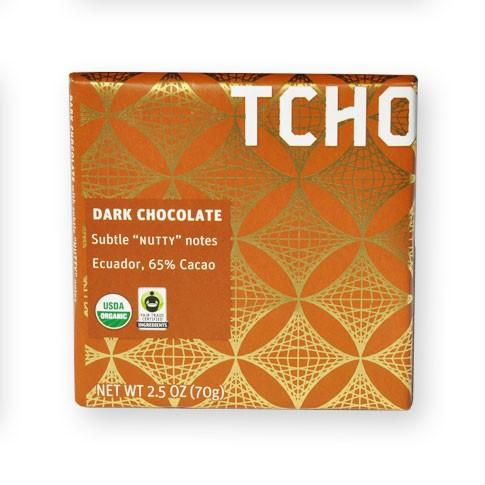Tcho Dark Chocolate 65% (12x2.5 Oz)