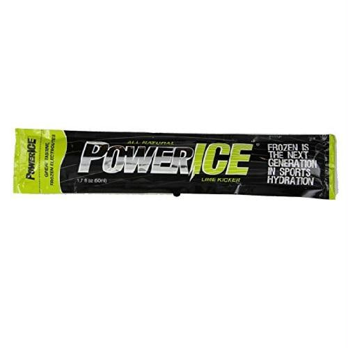 Powerice Enhanced Frozen Hydrator All Natural Freezer Bars, Lime Kicker (6x6 Ct)