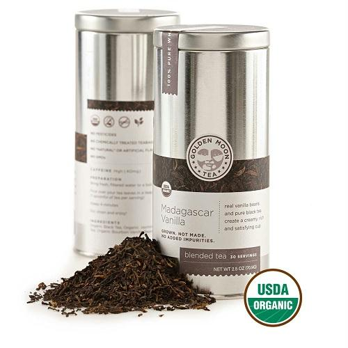 Golden Moon Madagascar Vanilla Tea (6x2.5 Oz)
