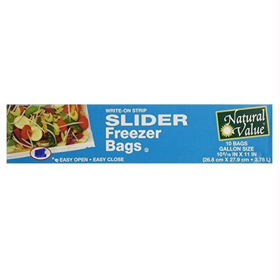 Natural Value Slider Gallon Freezer Bags (12x10 Ct)