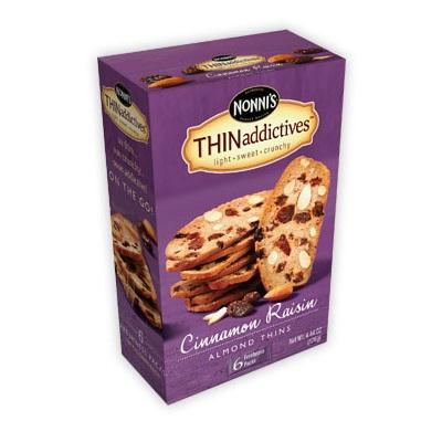 Nonni's Cinnamon Raisin Almond Thins (6x6 Ct)