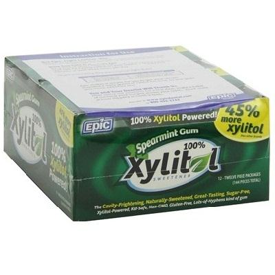 Epic Dental Xylitol Gum Spearmint (12x12 Ct)
