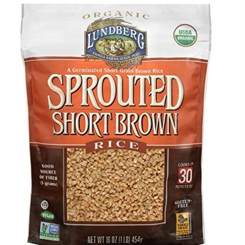 Lundberg Rice, Sprouted, Short Brown (6x1 Lb)