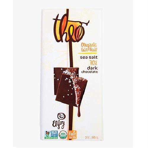 Theo Chocolate Sea Salt 70% Dark (12x3 Oz)