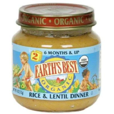 Earth's Best Baby Foods Baby Rice-lentil (12x4oz )
