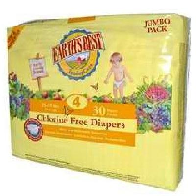 Earth's Best Tendercare Diapers Size 4 (4x30 Ct)
