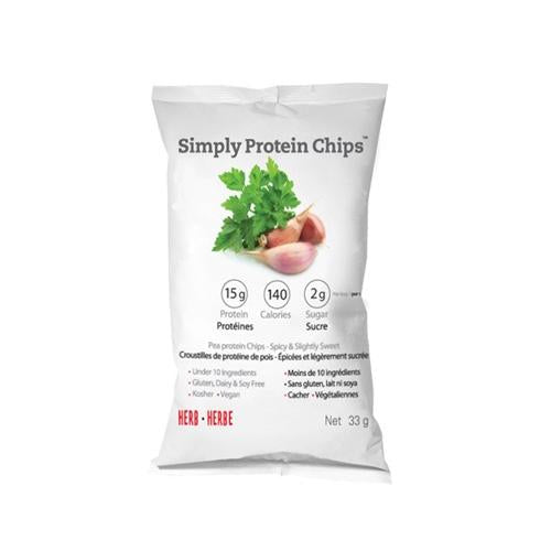 The Simply Bar Protein Chips Herb (12x33 Grams)
