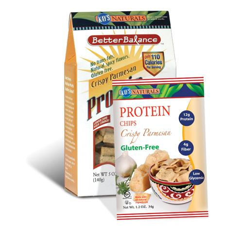 Kay's Naturals Better Balance Protein Chips Crispy Parmesan (6 Pack) 5 Oz