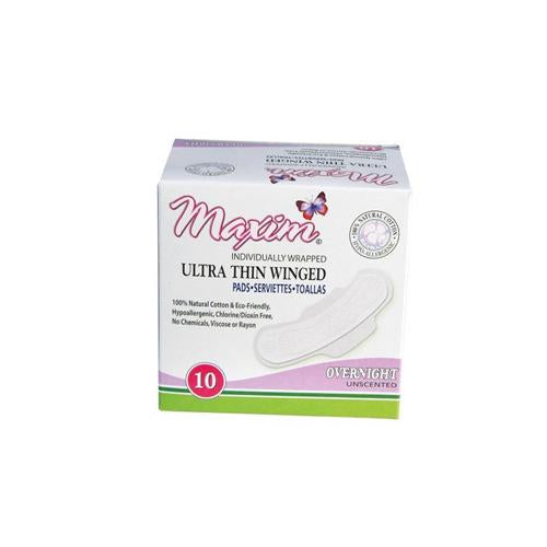 Maxim Hygiene Pads With Wings Super (1x10 Count)