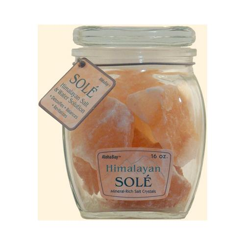 Himalayan Salt Sole Salt Chunks In Jar 16 Oz