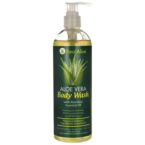 Real Aloe Inc. Body Wash Aloe Vera (16 Fl Oz)