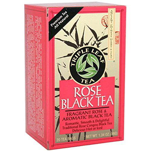 Triple Leaf Tea Black Tea Rose (6x20 Tea Bags)