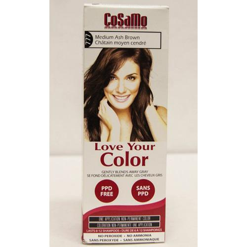 Love Your Color Hair Color Cosamo Non Permanent Med Ash Brown (1 Count)