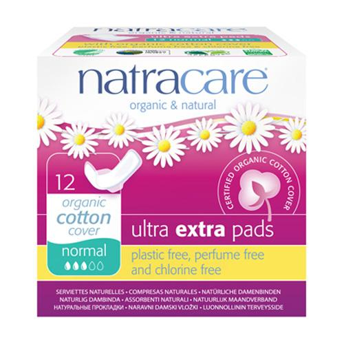 Natracare Pads Ultra Extra Normal Wings 12 Count