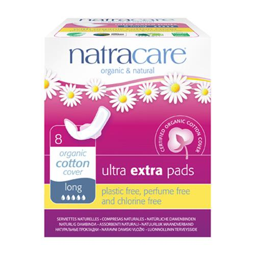Natracare Pads Ultra Extra Long Wings (1x8 Count)