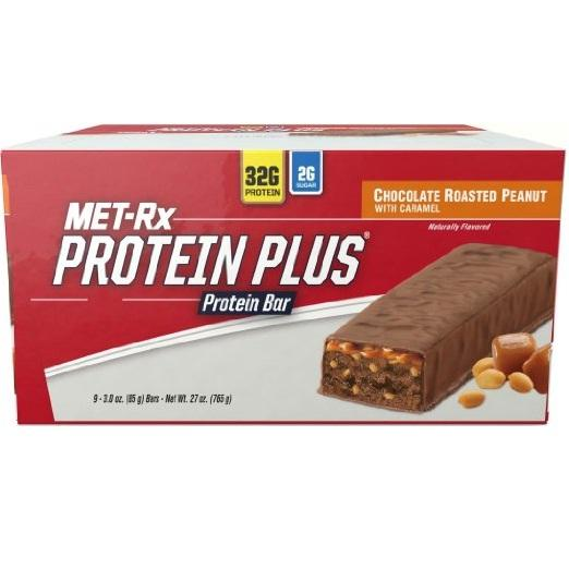 Met Rx Protein Bar  Protein Plus  Chocolate Roasted Peanut With Caramel  3 Oz  Case Of 9