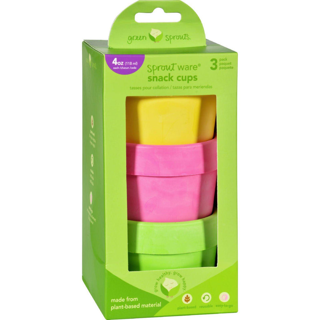Green Sprouts Snack Cups  Sprout Ware  6 Months Plus  Pink Assorted  3 Pack