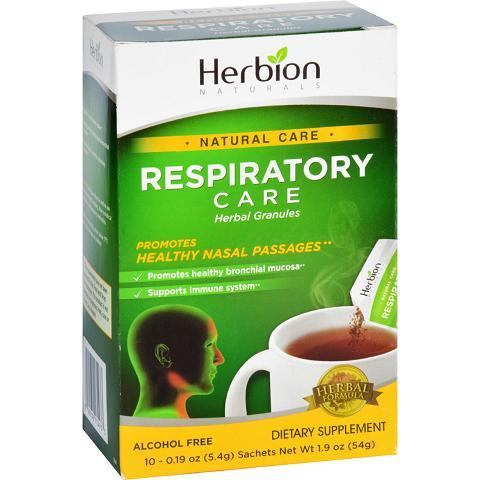 Herbion Naturals Respiratory Care  Natural Care  Herbal Granules  Lemon  10 Packets